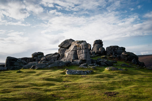Bonehill Rocks Bonehill Rocks, Dartmoor outcrop stock pictures, royalty-free photos & images