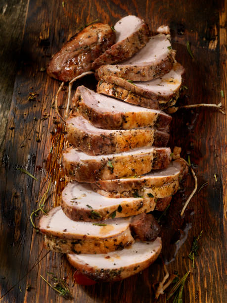 Boneless Pork Rib Roast Boneless Pork Rib Roast pork stock pictures, royalty-free photos & images