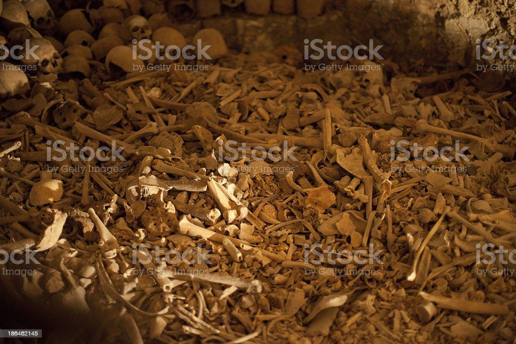 Bones of the Innocent Children killed by King Herod stock photo