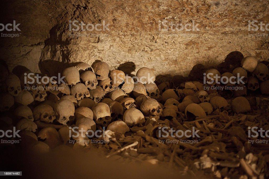 Bones of the Innocent Children massacred by King Herod stock photo