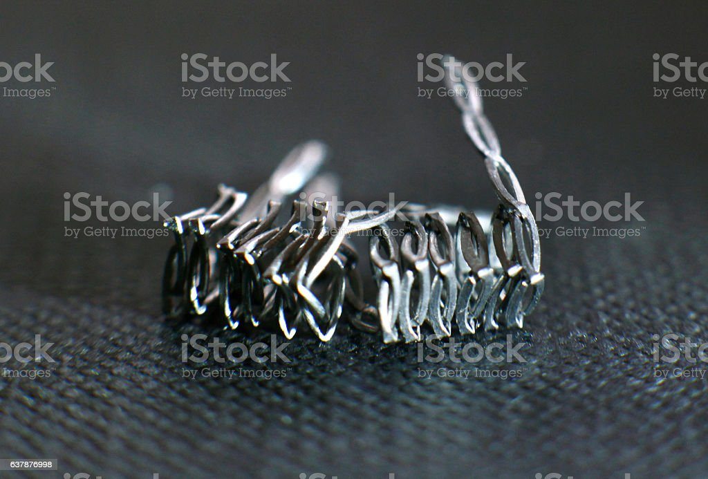 Boneyard coil build for vaping rebuildable atomizer stock photo