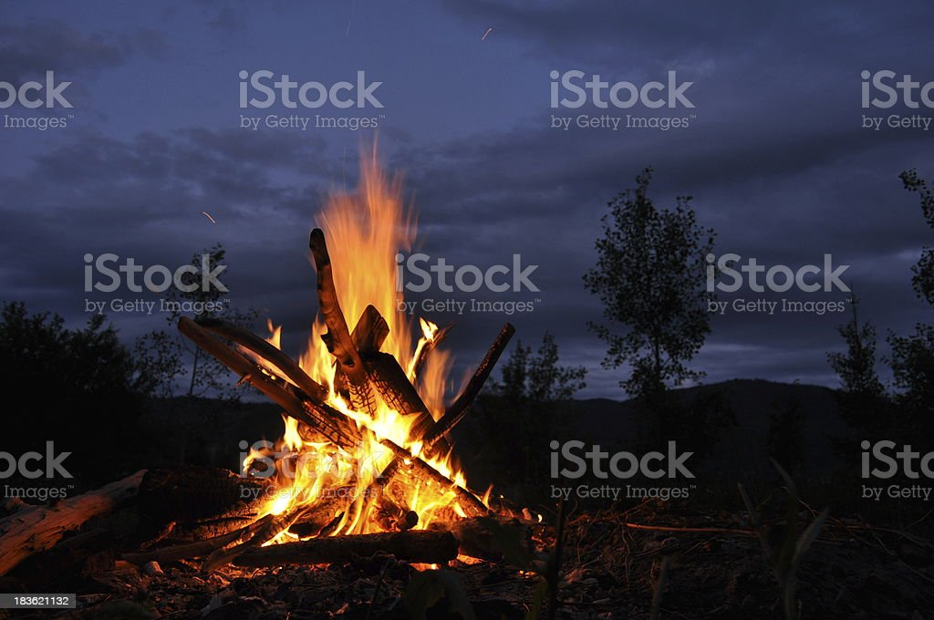 Bonfire, campfire stock photo