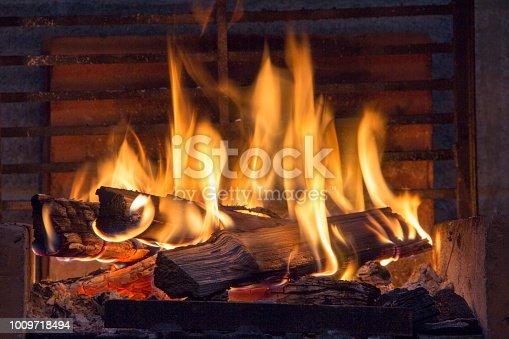 istock bonfire of coal, fire, smoke 1009718494