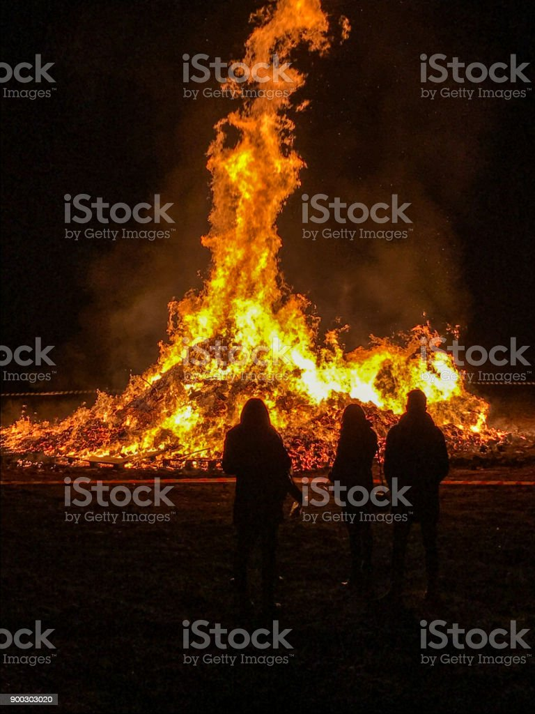 bonfire of Epiphany - foto stock