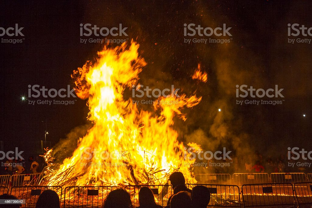 Bonfires of San Juan royalty-free stock photo