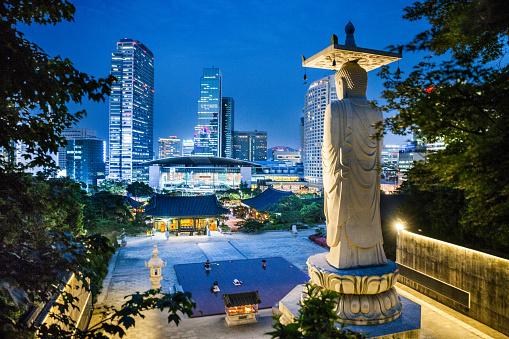 奉恩寺やソウル世界貿易センターの街並み - アジア大陸のストックフォトや画像を多数ご用意