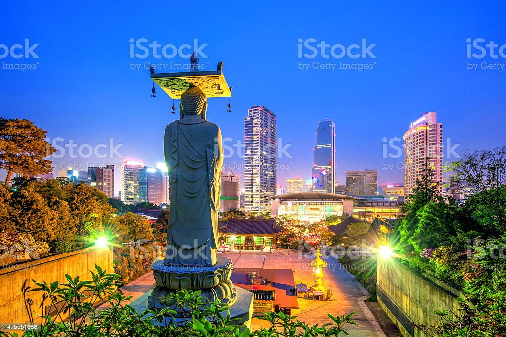 Bongeunsa Temple in Seoul, stock photo