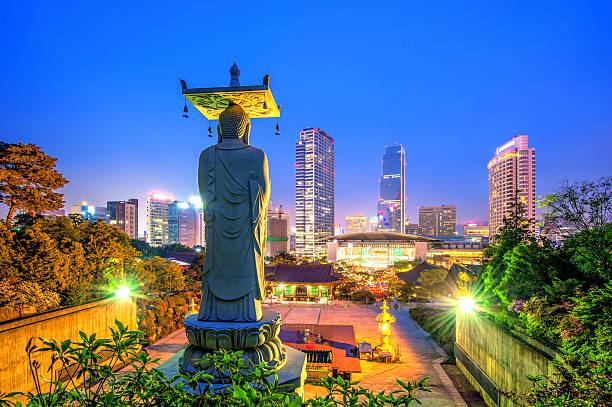 奉恩寺、ソウルで - ソウル ストックフォトと画像