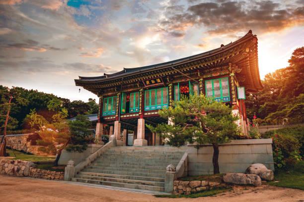 bongeunsa temple in seoul - south korea - - south korea stock pictures, royalty-free photos & images