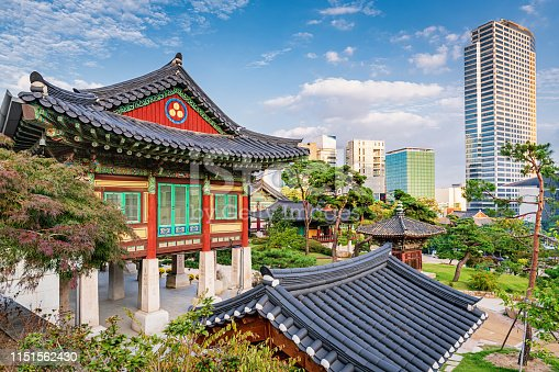 istock Bongeunsa Temple Seoul Gangnam, South Korea 1151562430