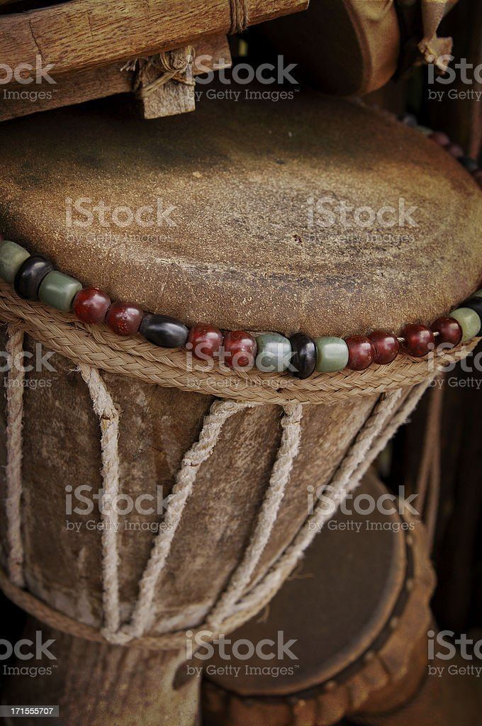 bongo drums djembe royalty-free stock photo