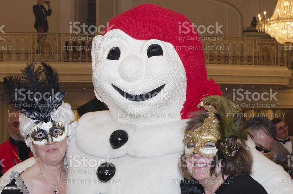 Bonhomme Carnaval with women stock photo