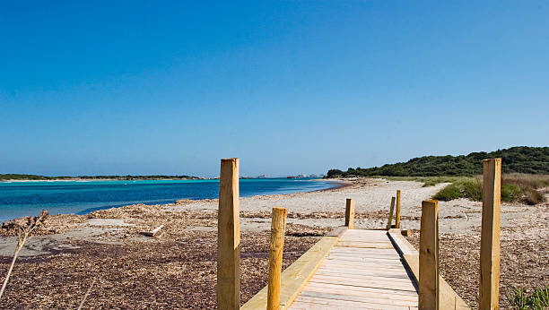 Bonifacio beach 1 stock photo