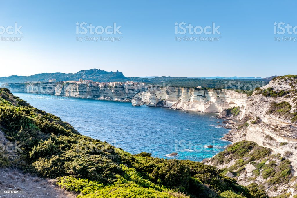 Bonifacio - cliffs at south Corsica stock photo