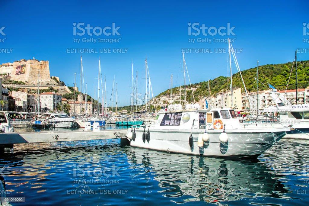 Bonifacio, Corsica, France stock photo