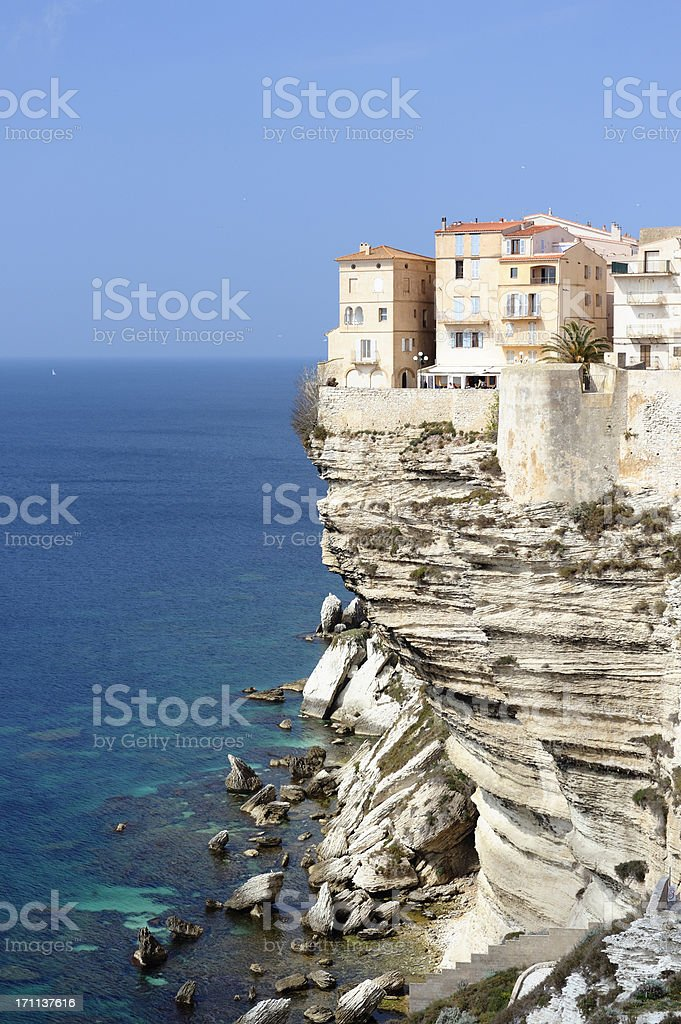 Bonifacio on the Island of Corsica stock photo