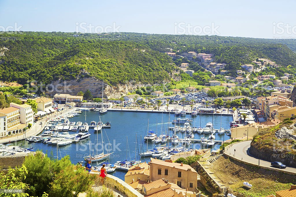 Bonifacio port stock photo