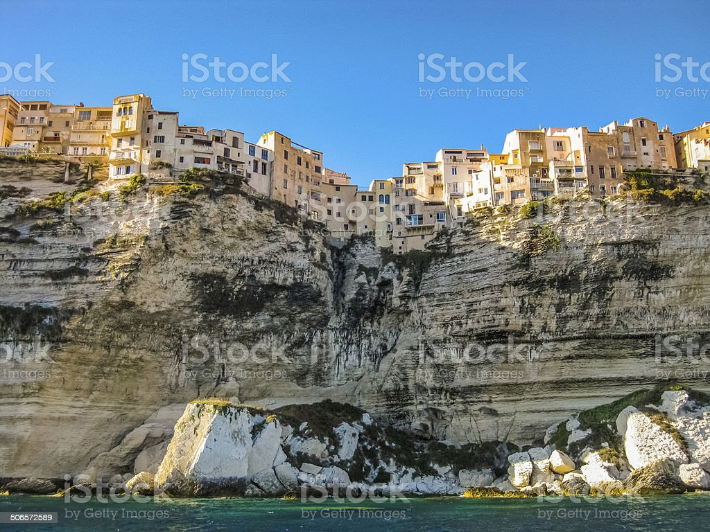 Bonifacio skyline, Corsica, France stock photo