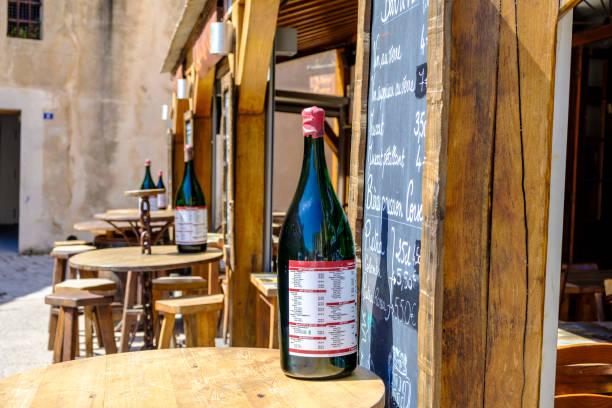 Bonifacio wine bar stock photo