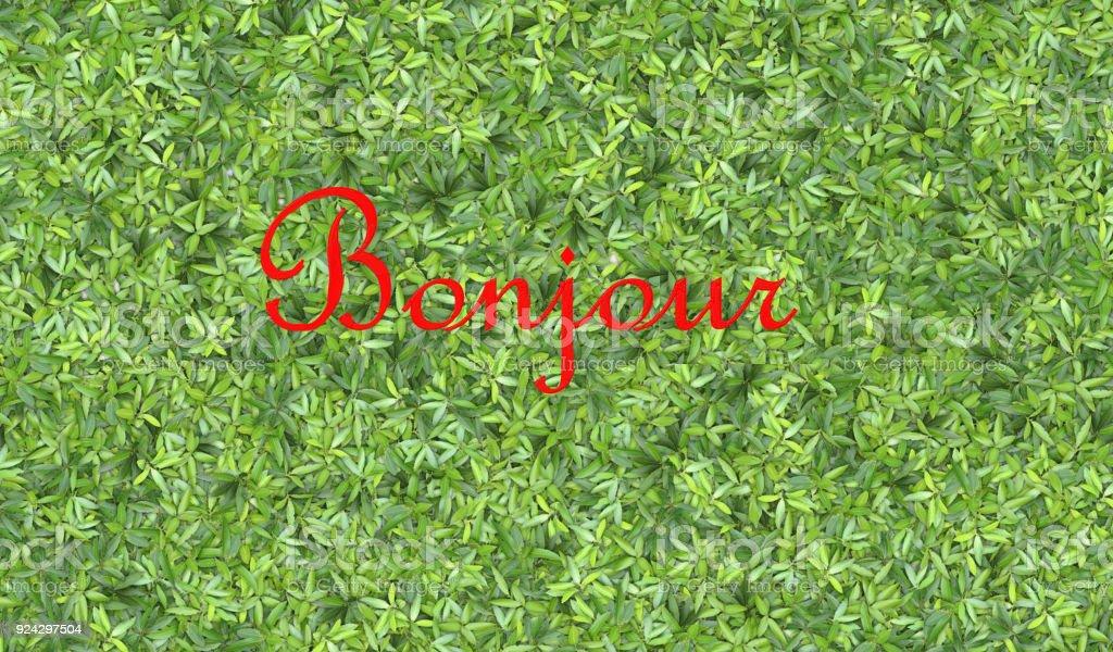 Bonjour - Stock image stock photo