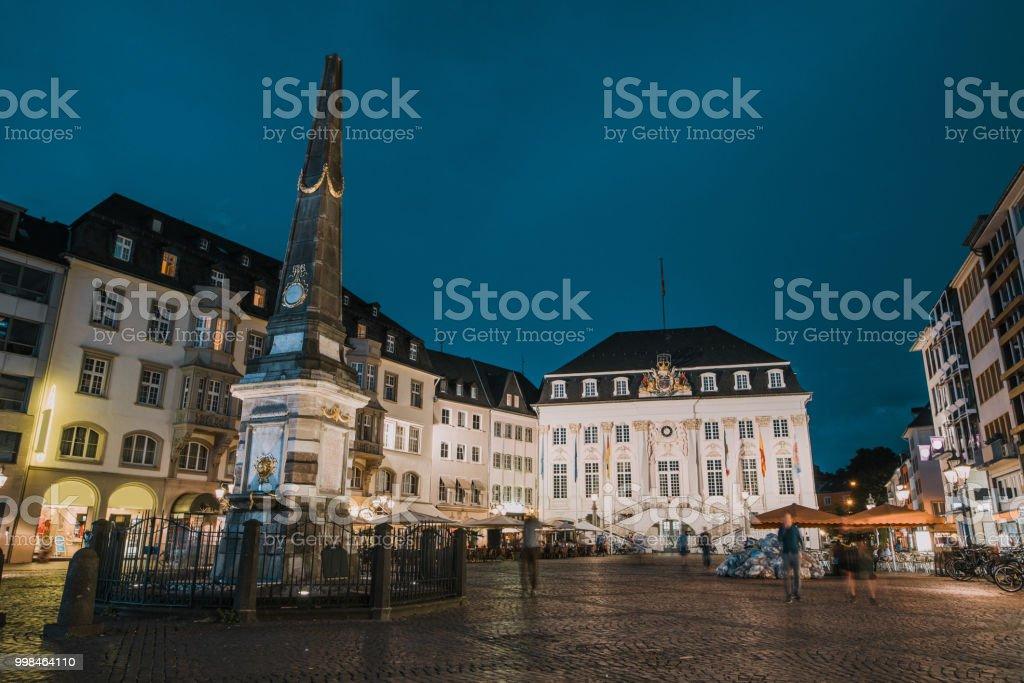 Bonn, Germany, at night stock photo