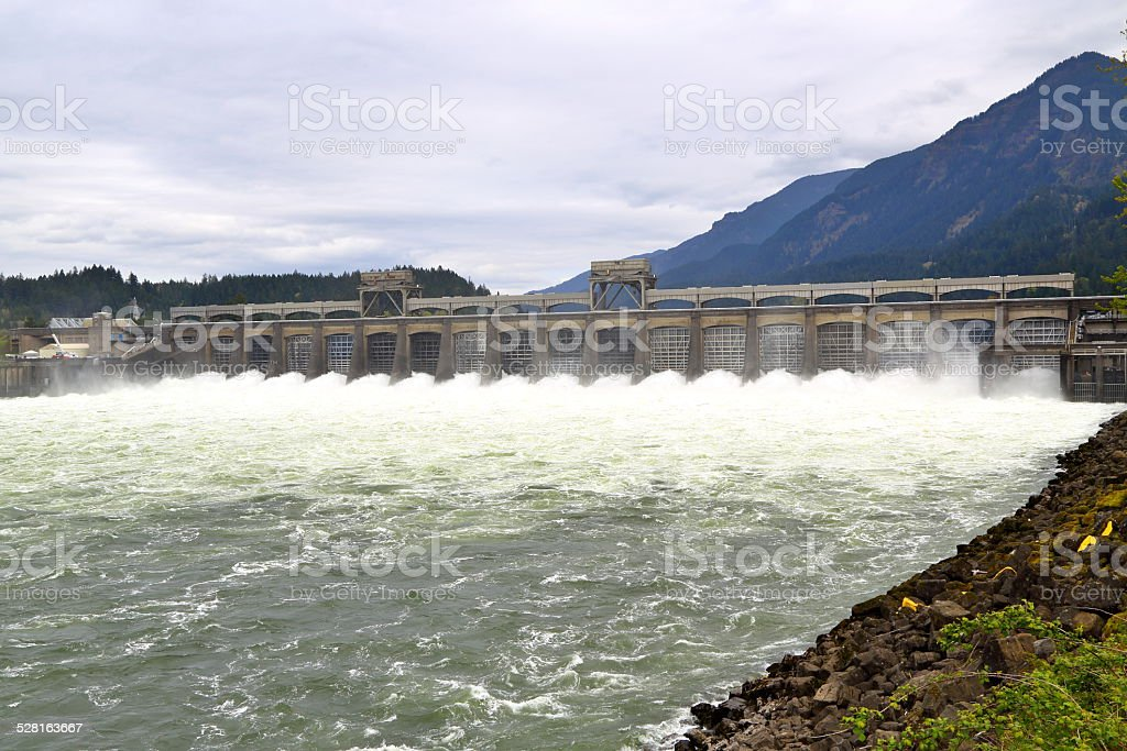 Bonneville Dam stock photo