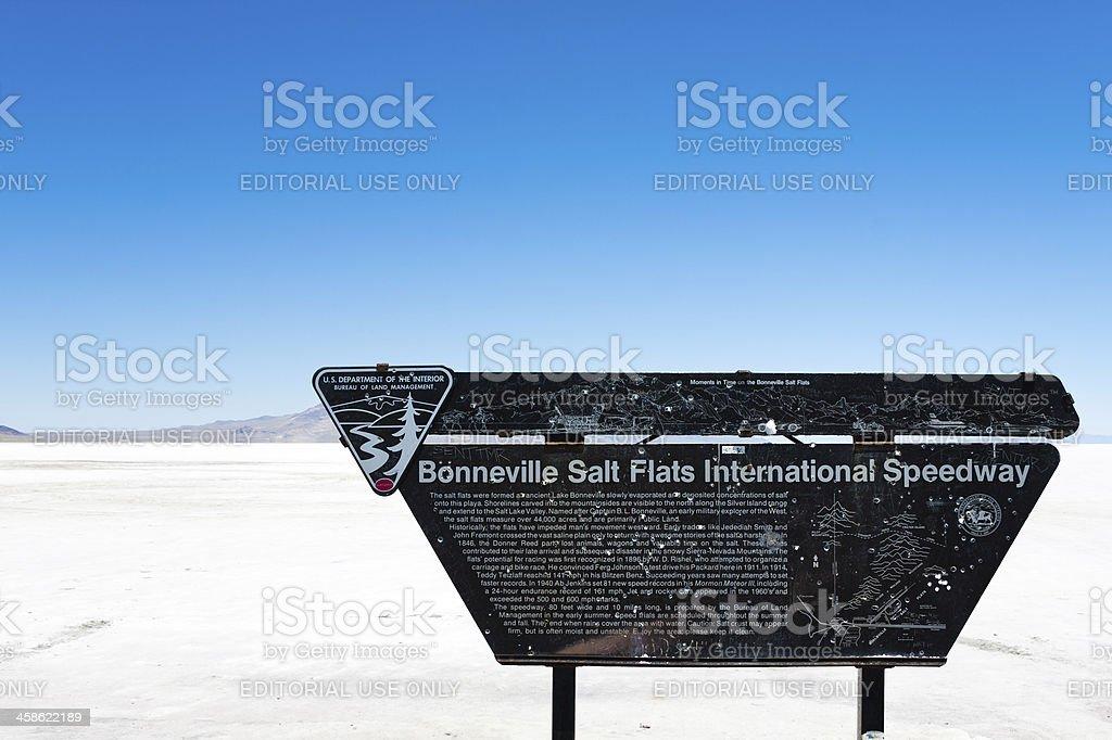 Bonneville Salt Flats in Utah stock photo