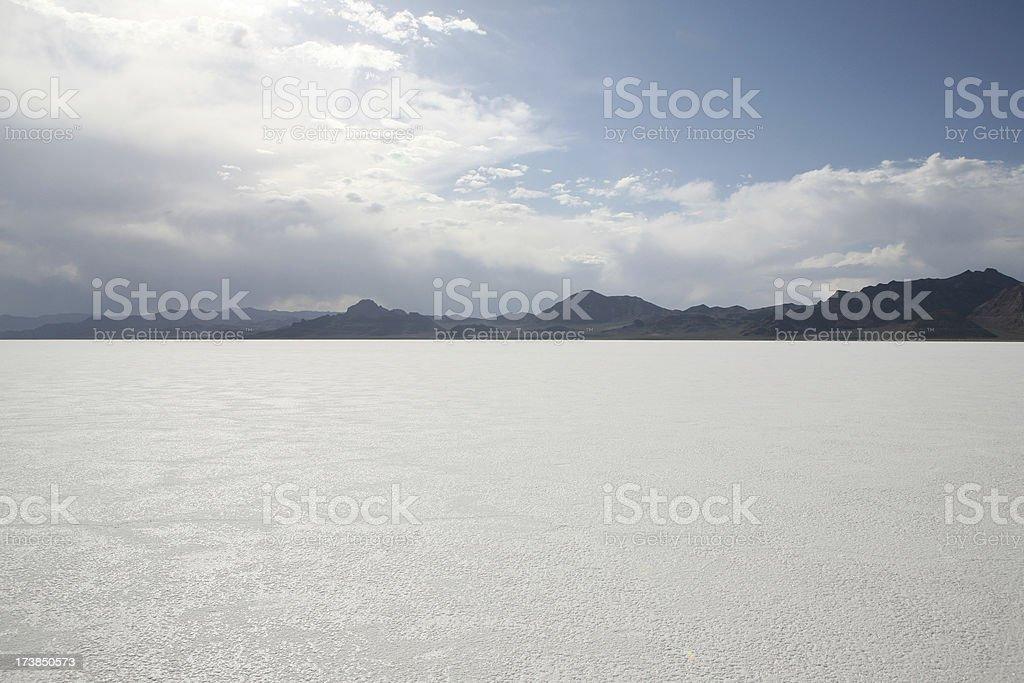 Bonneville Salt Flats in Western Utah, USA stock photo