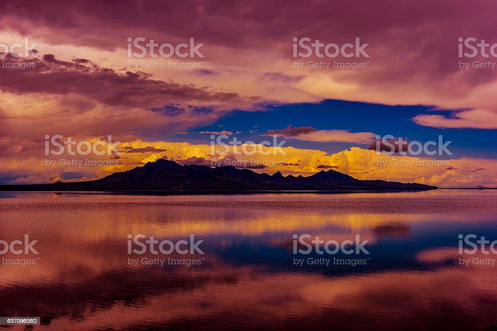 Bonneville Salt Flats stock photo