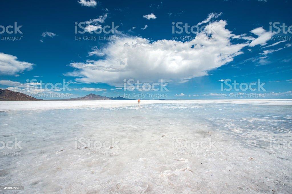 Bonneville salt flats, Utah stock photo