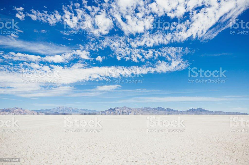 Bonneville Salt Flats Utah USA stock photo