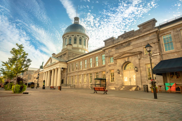 Bonsecours Market in Old Montreal stock photo