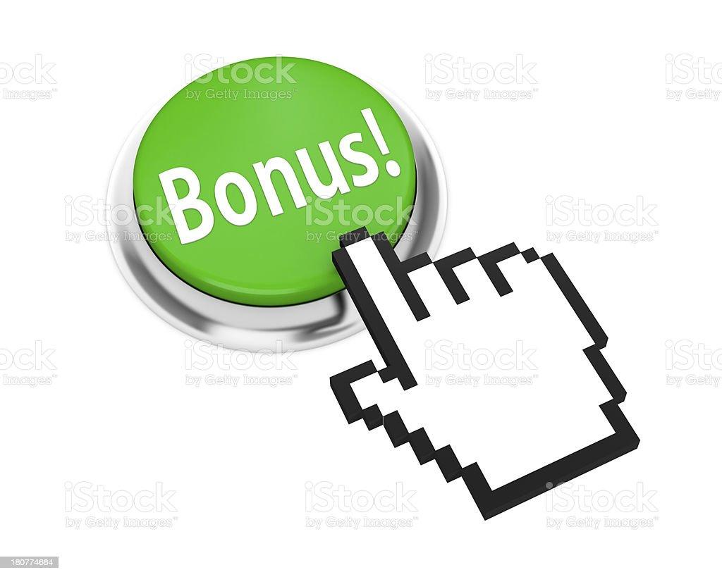 bonus button stock photo