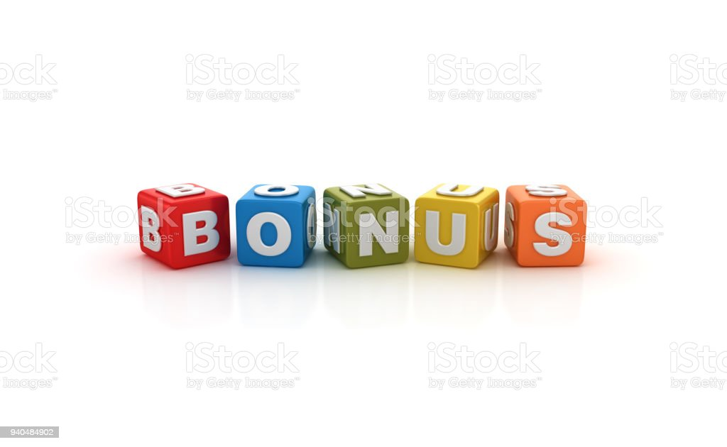 Bonus Buzzword Cubes - 3D Rendering stock photo