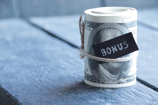 Bonus. Creative business concept. Vintage style.