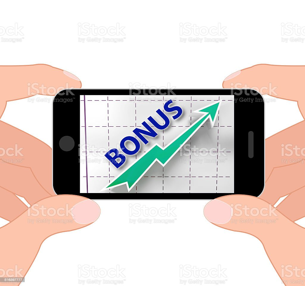 Bonus Graph Displays Higher Premiums And Rewards stock photo