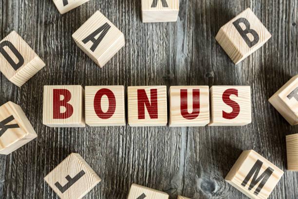 bonus - bonus foto e immagini stock