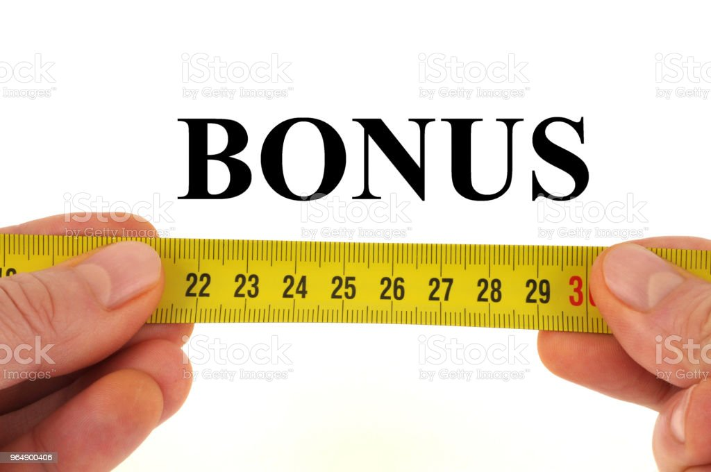 Bonus royalty-free stock photo