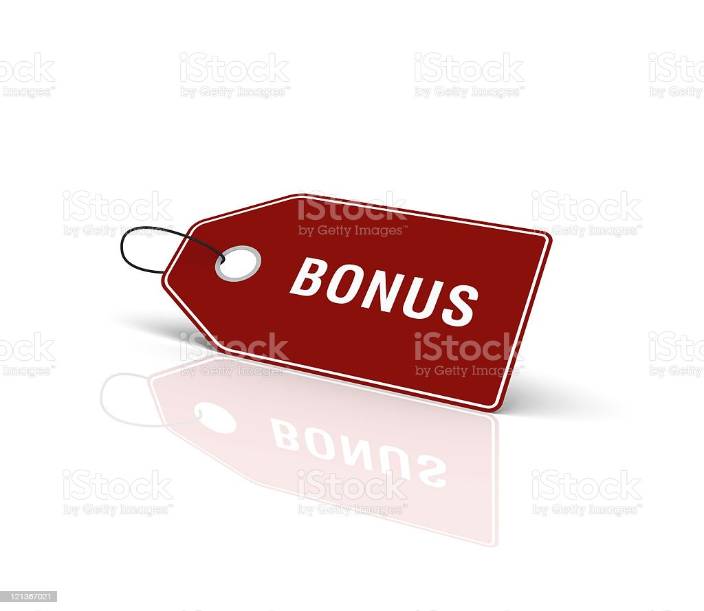 Bonus Shopping Tag royalty-free stock photo