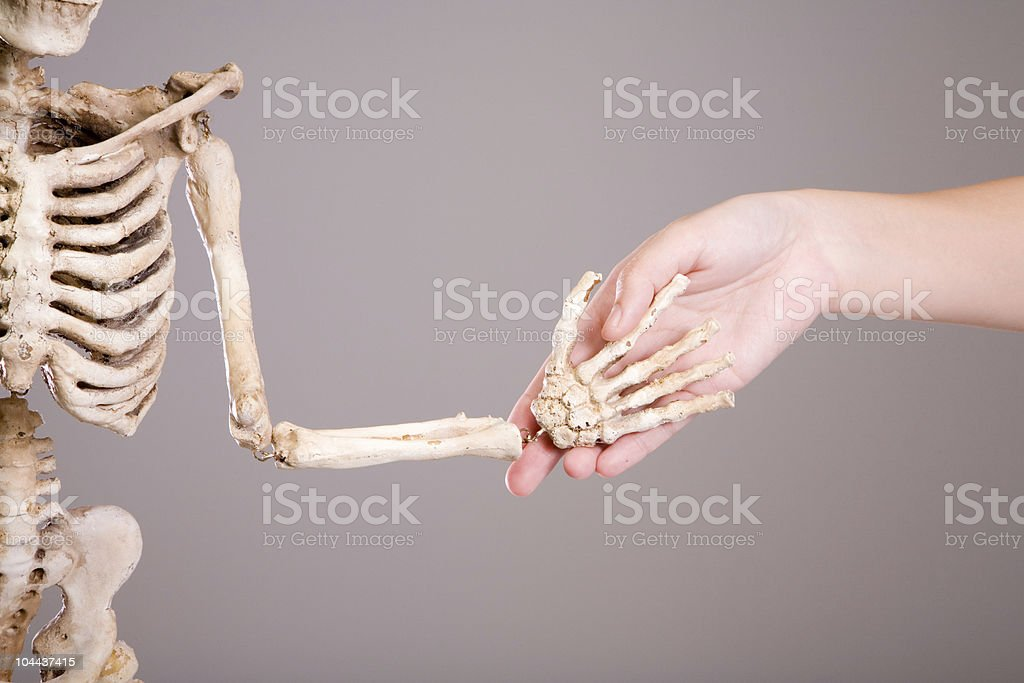 bony skeleton royalty-free stock photo