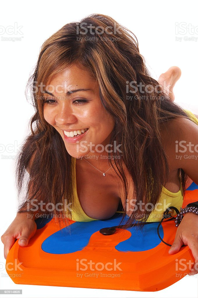 Boogie Board Babe 5 royalty-free stock photo