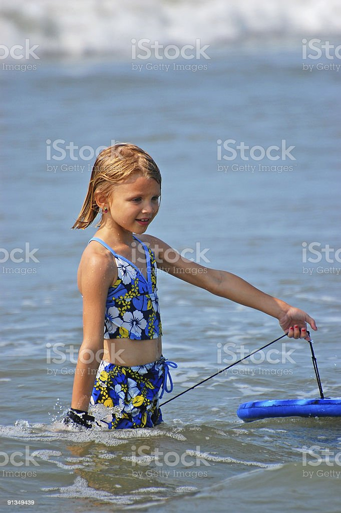 Boogie Board Girl 10 royalty-free stock photo