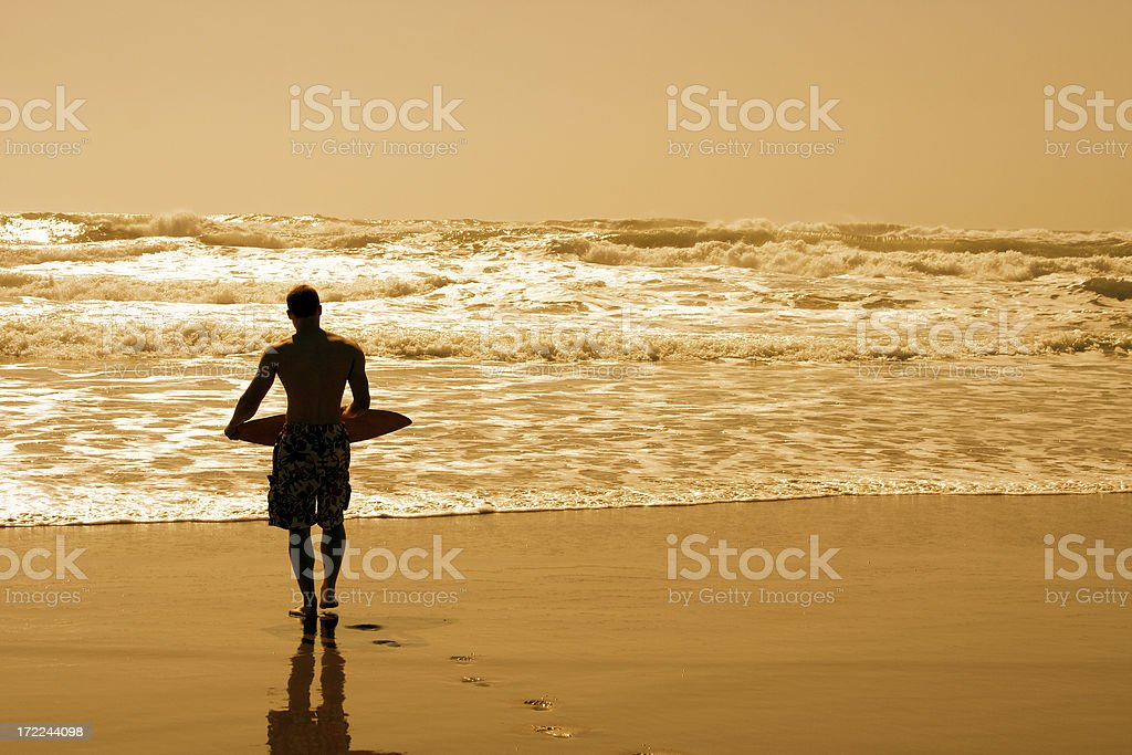 Boogie Boarding royalty-free stock photo