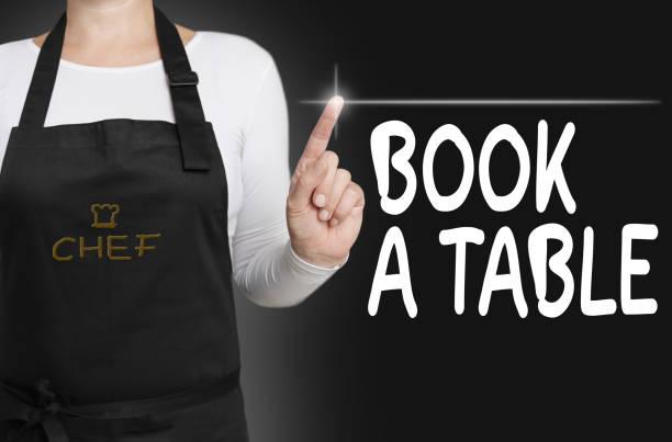 Buch eine Tabelle Touchscreen wird von Gastkoch-Konzept betrieben. – Foto