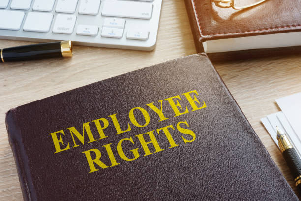 Book about employee rights in an office. Book about employee rights in an office. labor union stock pictures, royalty-free photos & images