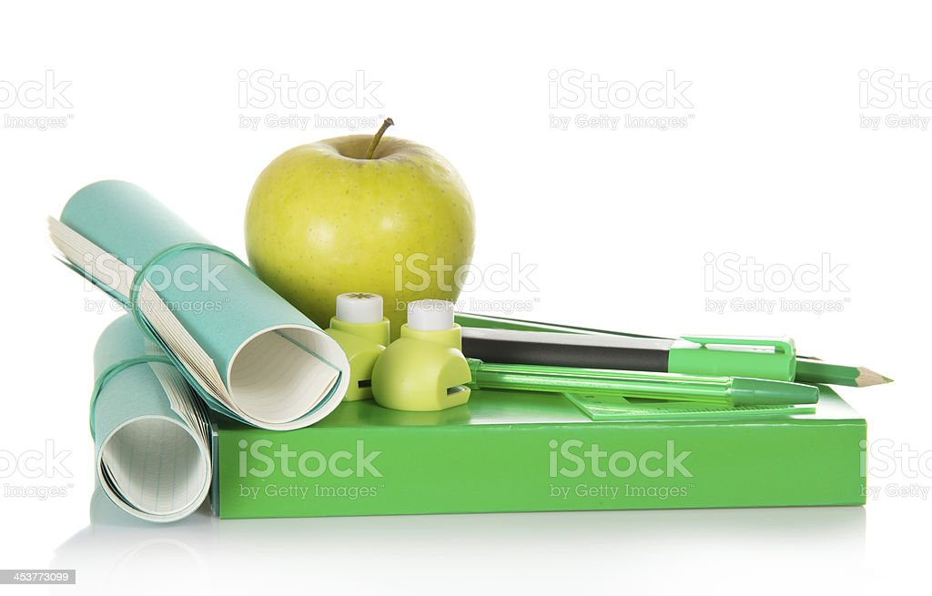 Letter Hole Puncher.Book Accessories To The Letter A Hole Puncher Stock Photo