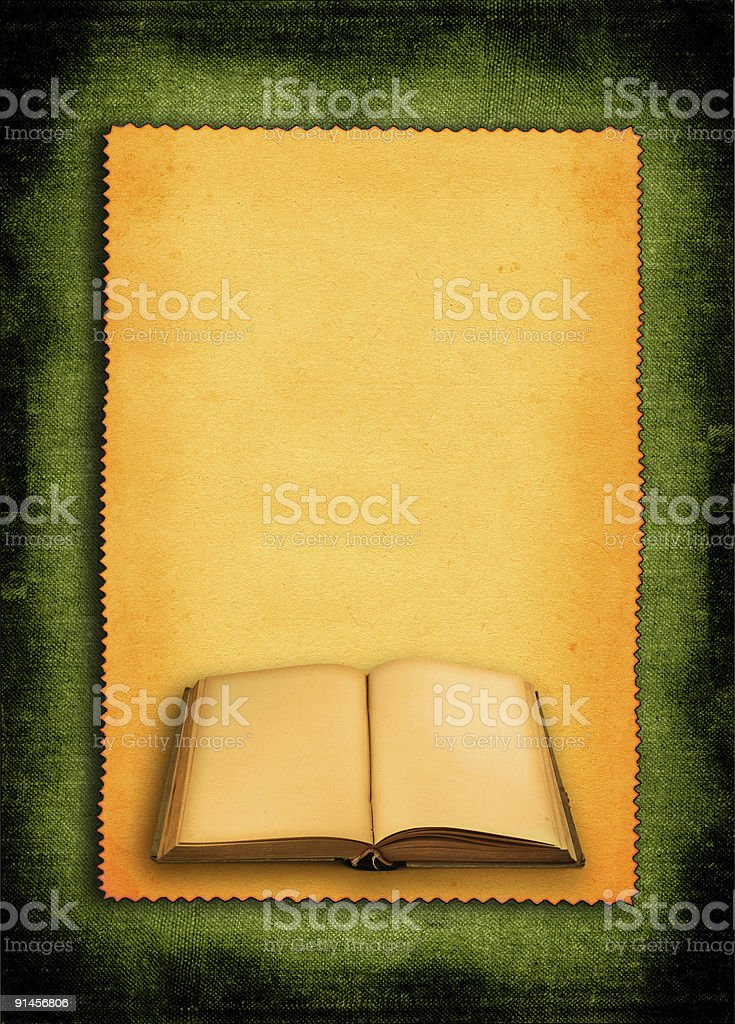 book against retro background royalty-free stock photo