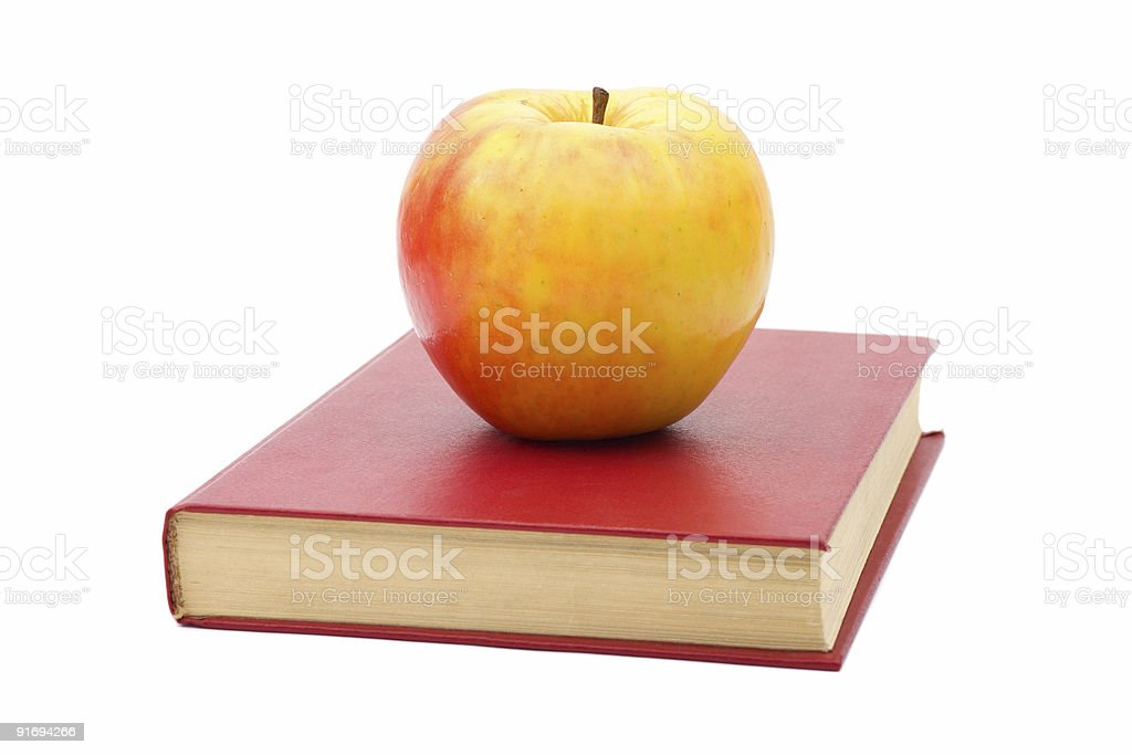 Book and apple royalty-free stock photo