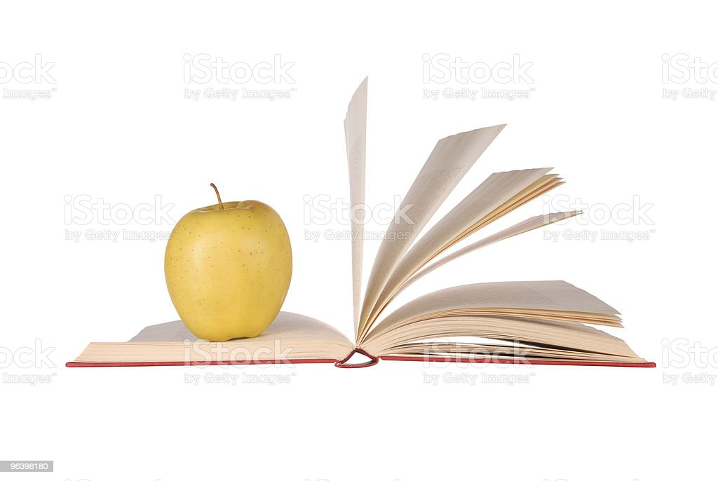 Book and Apple - Royalty-free Apple - Fruit Stock Photo