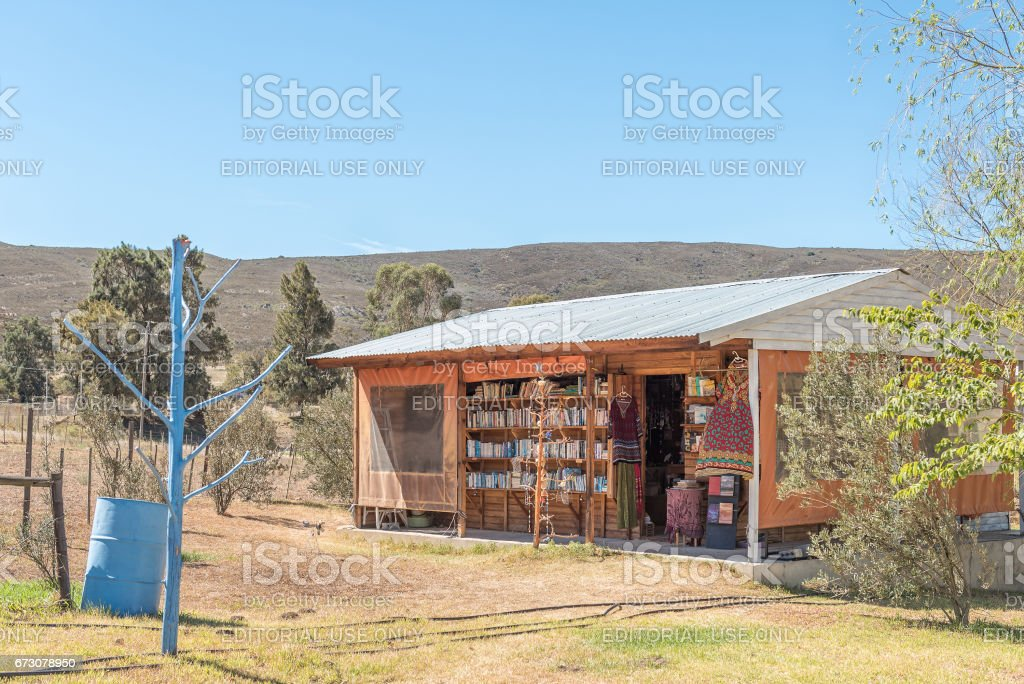 Book and curios shop in Barrydale stock photo